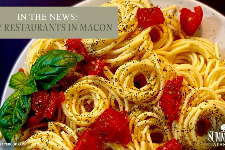 In the News: New Restaurants in Macon